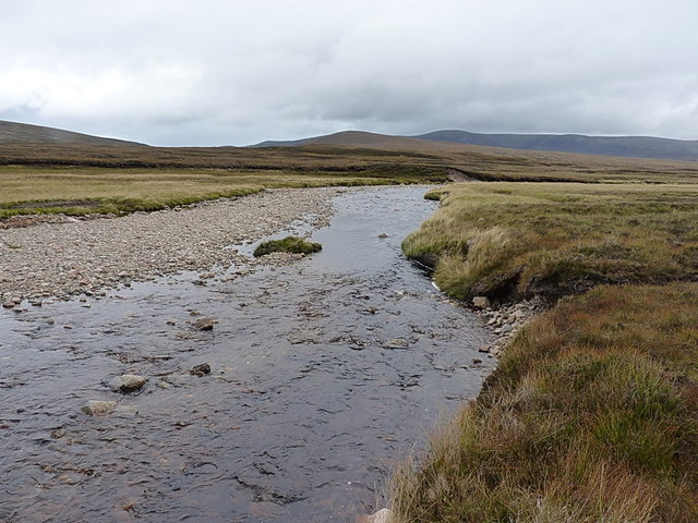 Looking downstream on the Feshie