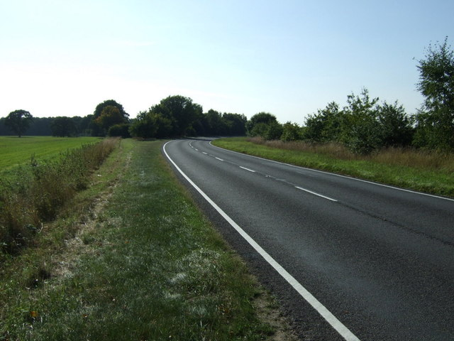 A bend in Tumby Lane (A155)