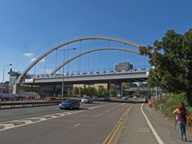 Nottingham Tram bridge over Clifton Boulevard