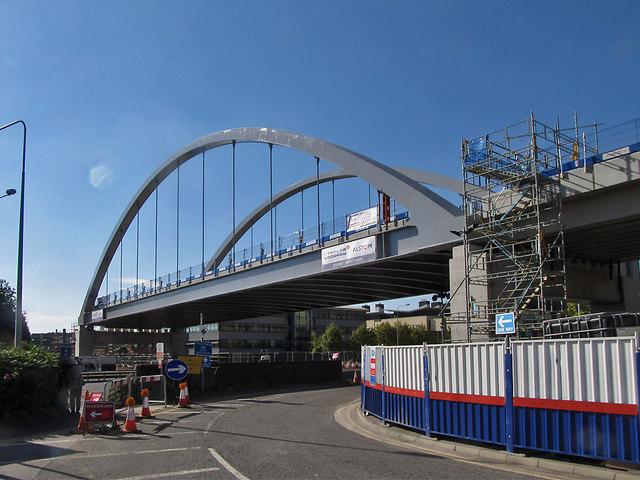 Nottingham Express Transit bridge over Clifton Boulevard