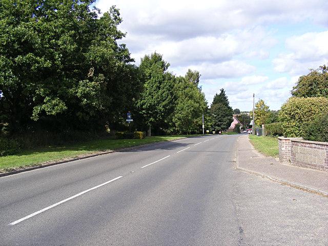 B1149 Holt Road & Horsford Village sign