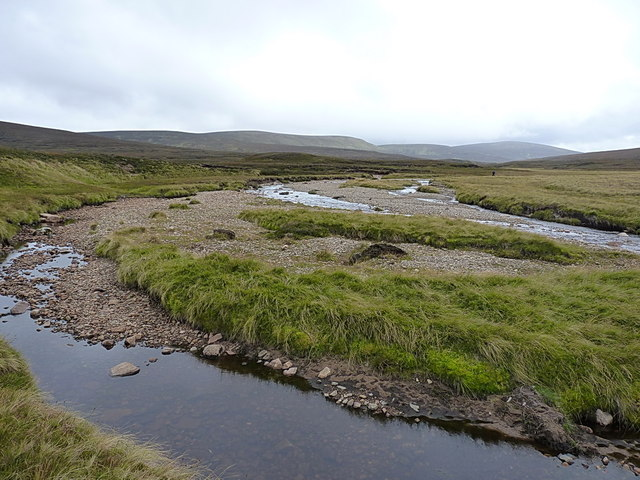 Shingle flats and beds in the upper Feshie valley