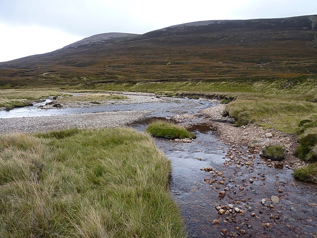 At the confluence of the Allt a' Choire Chreagaich