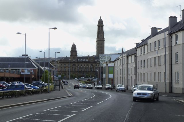 Victoria Tower, from Dalrymple Street, Greenock