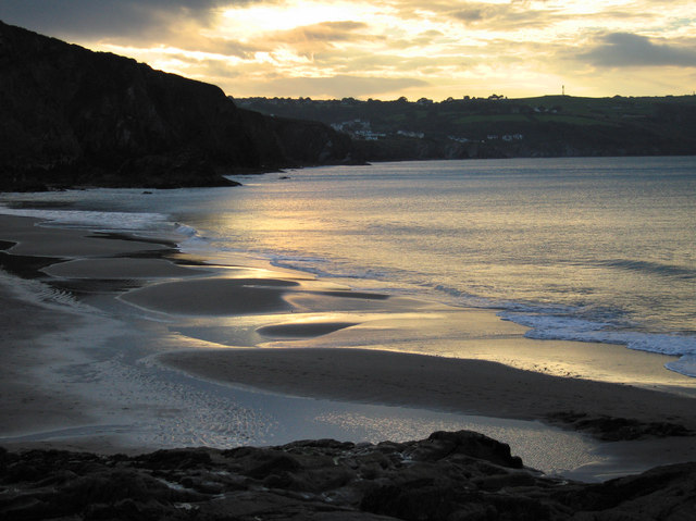 Sunset at Tresaith