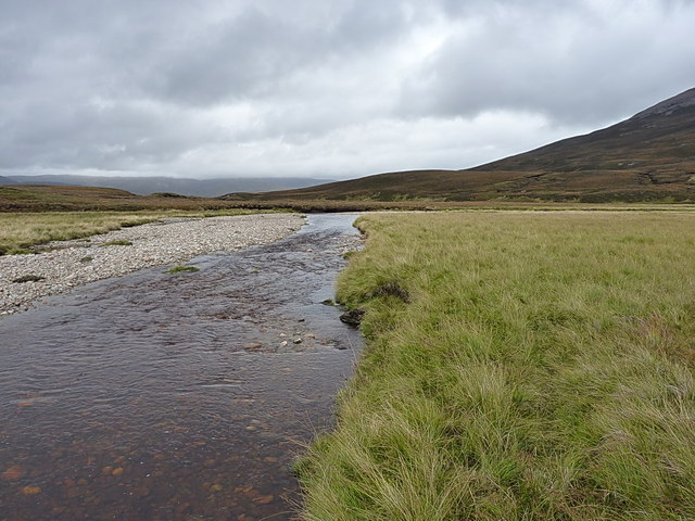 Downstream towards a sharp bend in the river