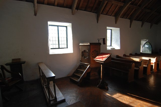 Inside the Church of the Holy Cross at Mwnt