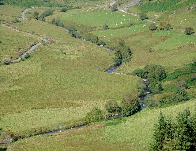 The Afon Tywi from Coed Nantyrhwch, Powys