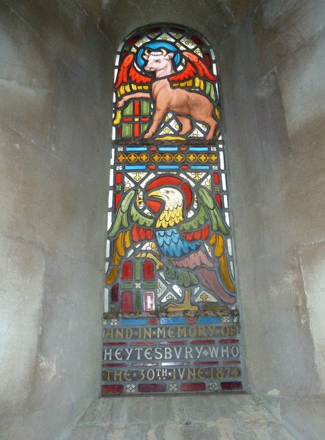 St Margaret, Knook: delightful window