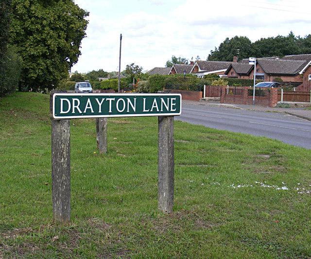 Drayton Lane sign
