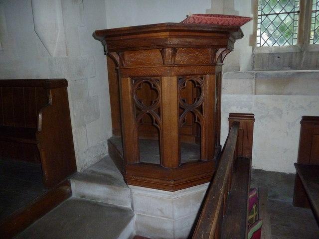 St Margaret, Knook: pulpit