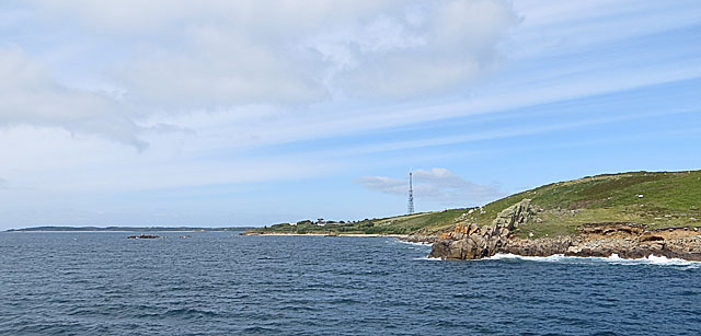 Carn Morval and the Telegraph from the Scillonian