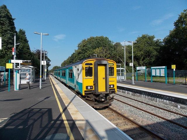 Shrewsbury train at Gowerton