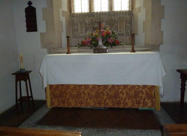 St James, Tytherington: altar