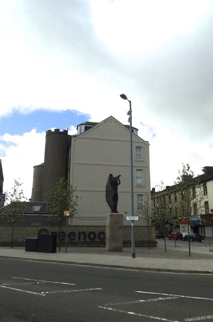 Egeria the Wood Nymph, at the junction of West Blackhall Street and Dalrymple Street, Greenock - 1