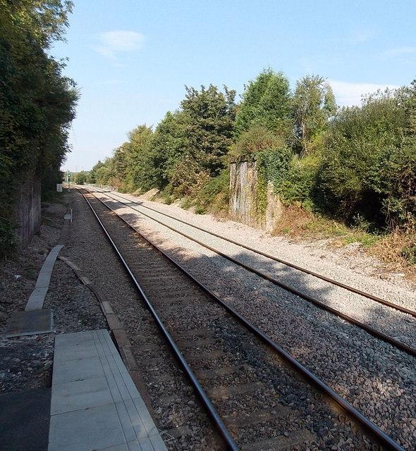 Remains of a railway bridge near Gowerton railway station