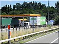 SP3186 : Fuel Service Area, Corley Services by David Dixon