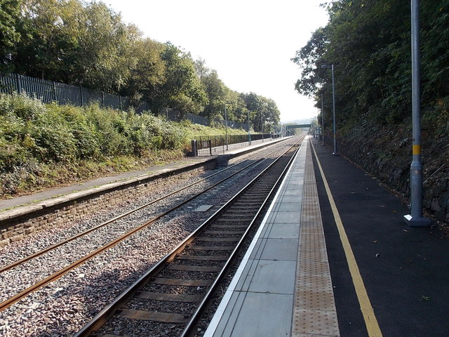 Gowerton railway station from the NW