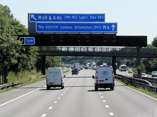 Southbound M6 Motorway