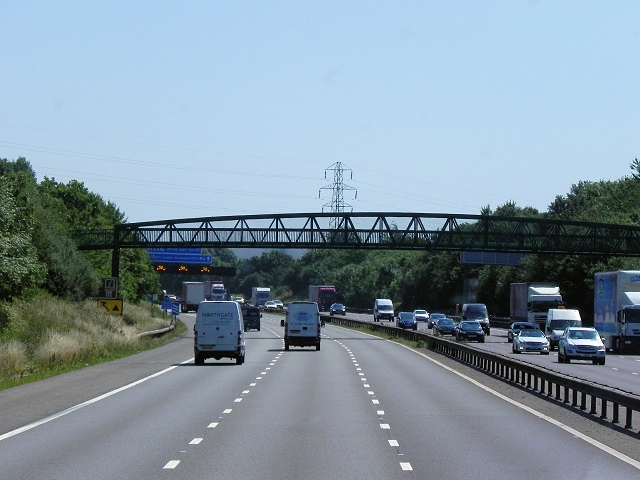 Woodway Lane Footbridge over the M6 near Sowe Common