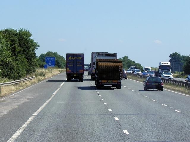 Southbound M6 near Withybrook