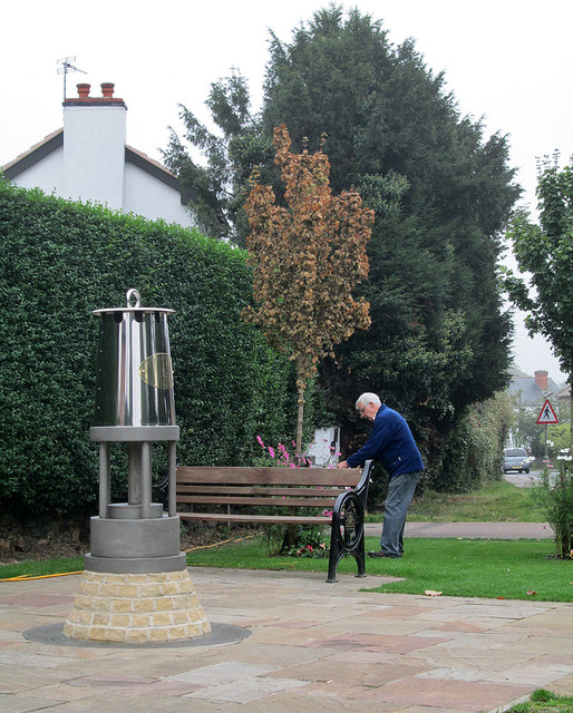 Gedling: tending the flowers at the miners' memorial