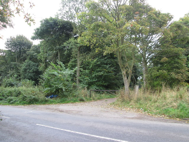 Entrance to woodland off Upper Field Lane