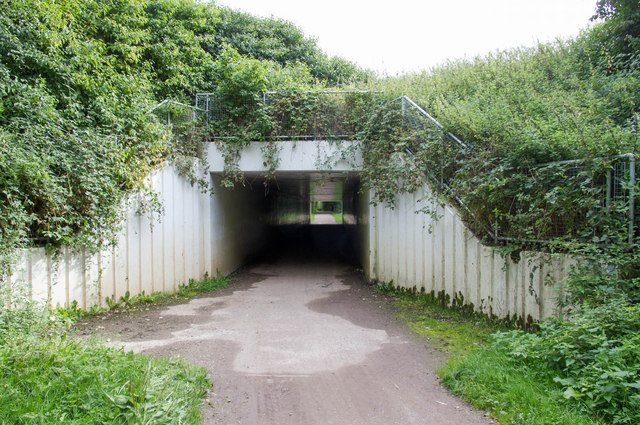 Footpath under M42, Kingsbury Water Park