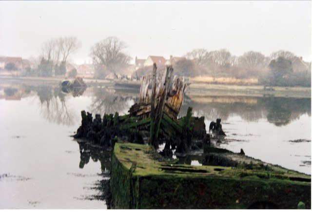 Wooden pinnace and landing craft, February 2009