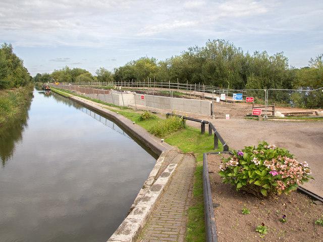 Flood defence works near Curdworth Bottom Lock