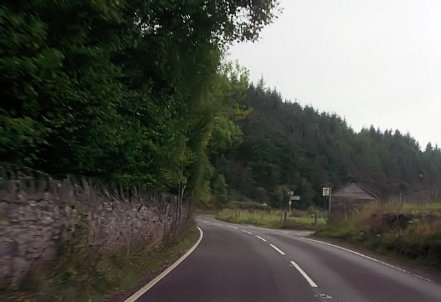 A488 at Gravels Terrace junction