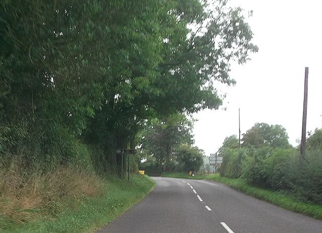 A488 at Hollybank cross roads