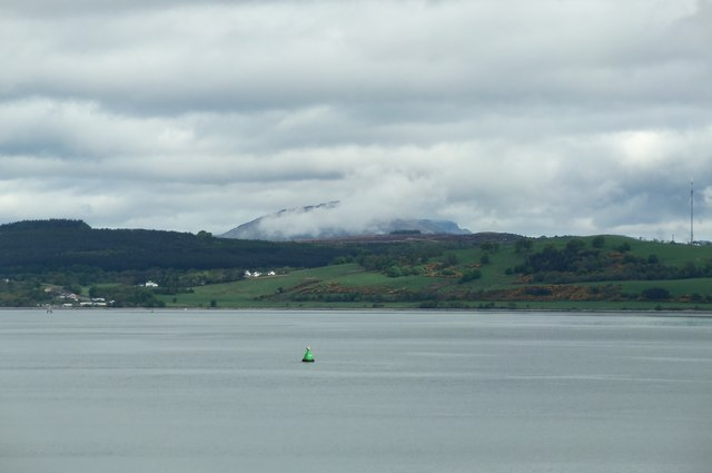 Helensburgh and Ben Lomond viewed from P&O's Adonia, sailing into Greenock