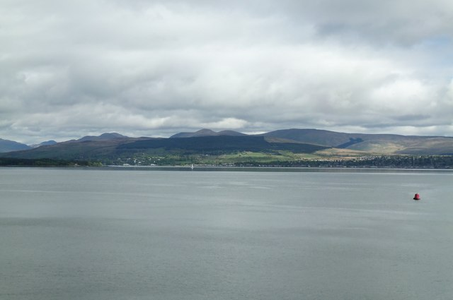 Helensburgh and the Arrochar Alps, viewed from P&O's Adonia, sailing into Greenock