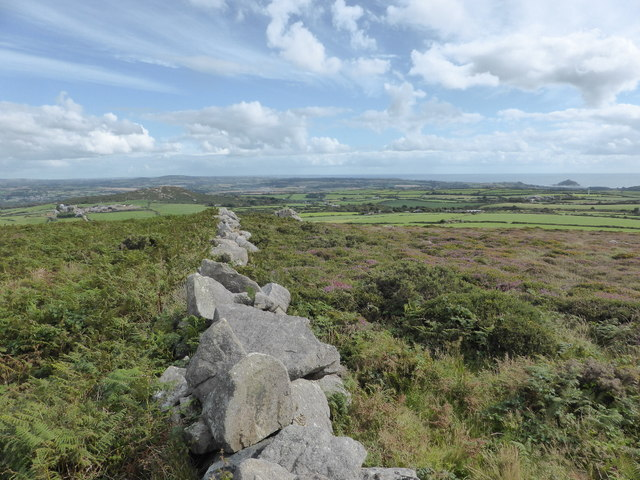 Drystone wall on Trink Hill