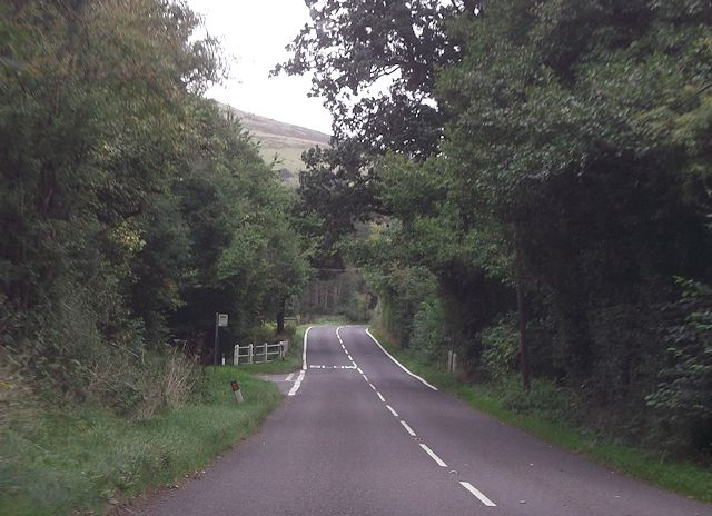 Road junction near Welsh Lodge