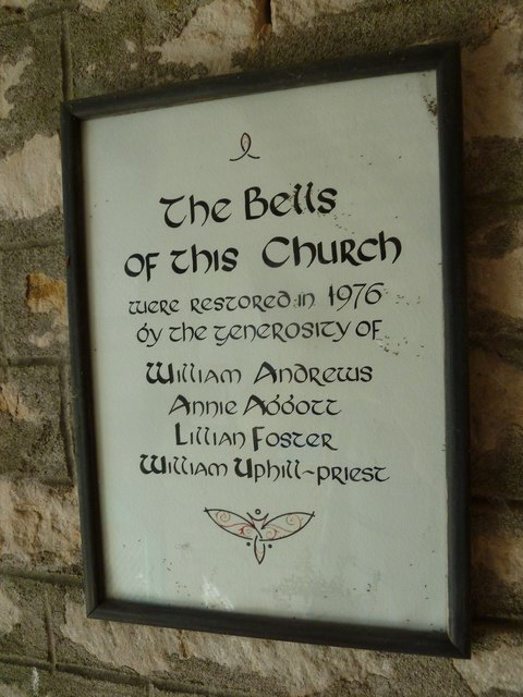 St Andrew, Todber: bell restoration commemoration