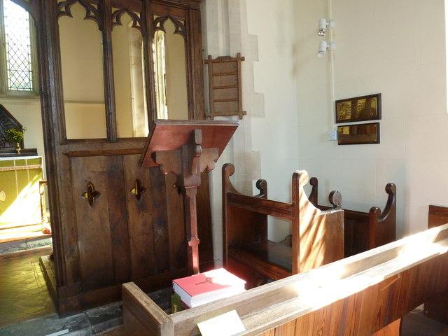 St Andrew, Todber: lectern