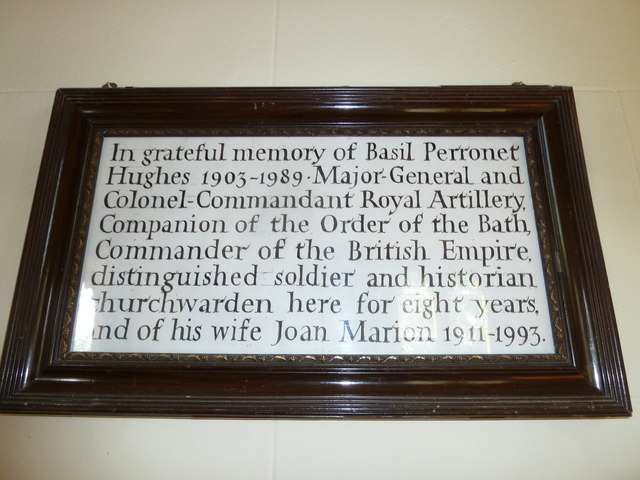 St Andrew, Todber: memorial to a distinguished soldier