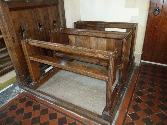 St Andrew, Todber: choir stalls