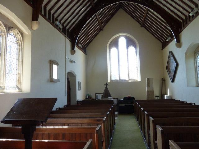 Interior of St Andrew, Todber: September 2013