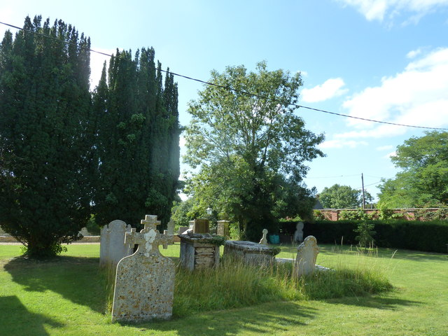 St. Peter, Hinton St. Mary: graves
