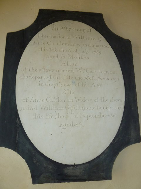 St. Peter, Hinton St. Mary: memorial (2)
