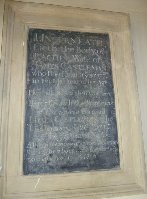 St. Peter, Hinton St. Mary: memorial (1)