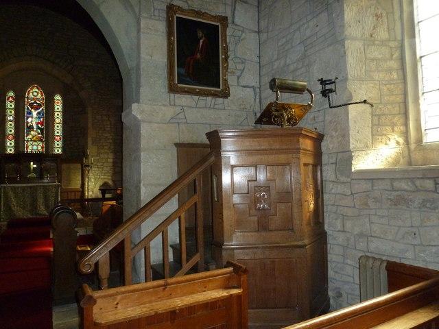 St Nicholas, Manston: pulpit