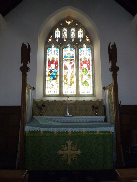 St. Peter, Hinton St. Mary: altar