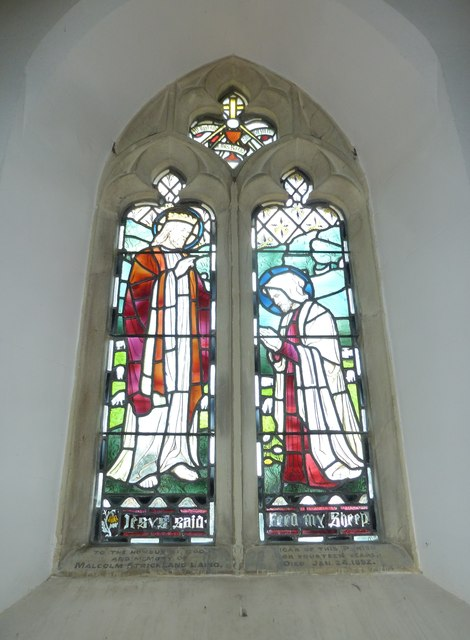 St. Peter, Hinton St. Mary: memorial window to a 19th century incumbent