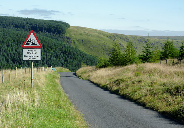 Final warning - approaching the Devil's Staircase, Powys