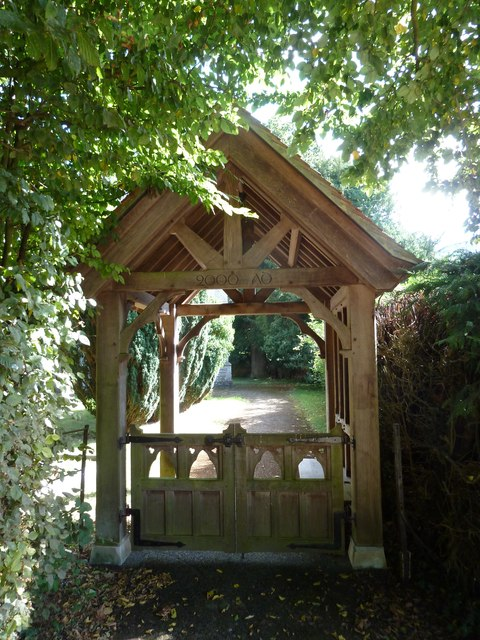 St Nicholas, Manston: lych gate