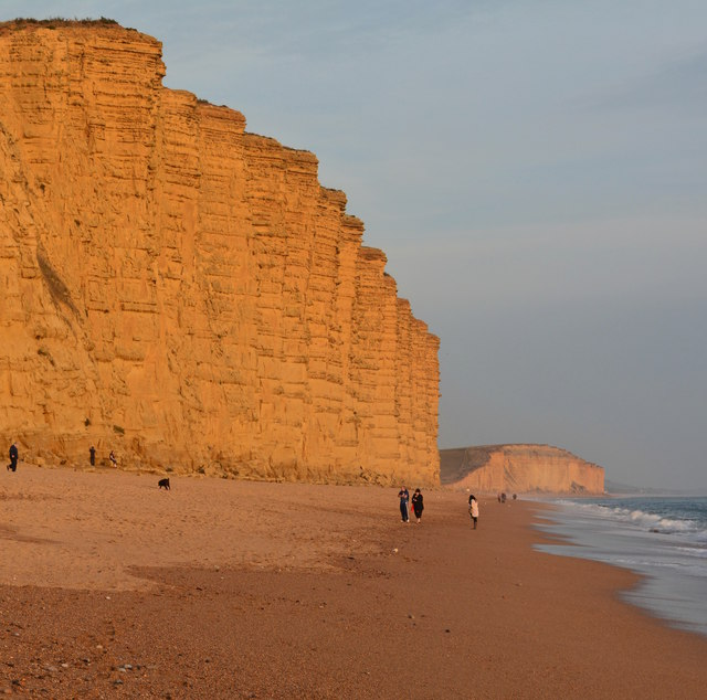 East Cliff approaching sunset, West Bay, Dorset